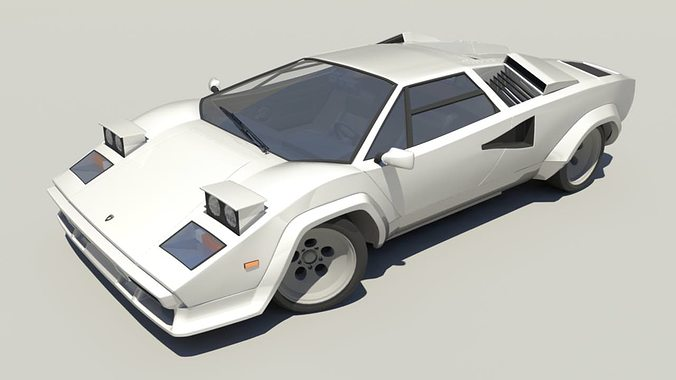 Lamborghini Countach Lp5000 3d Model Cgtrader