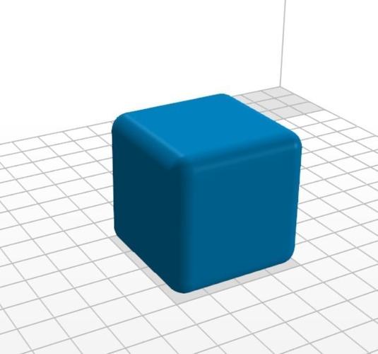 cube rounded edge 40 mm 3d model stl 1