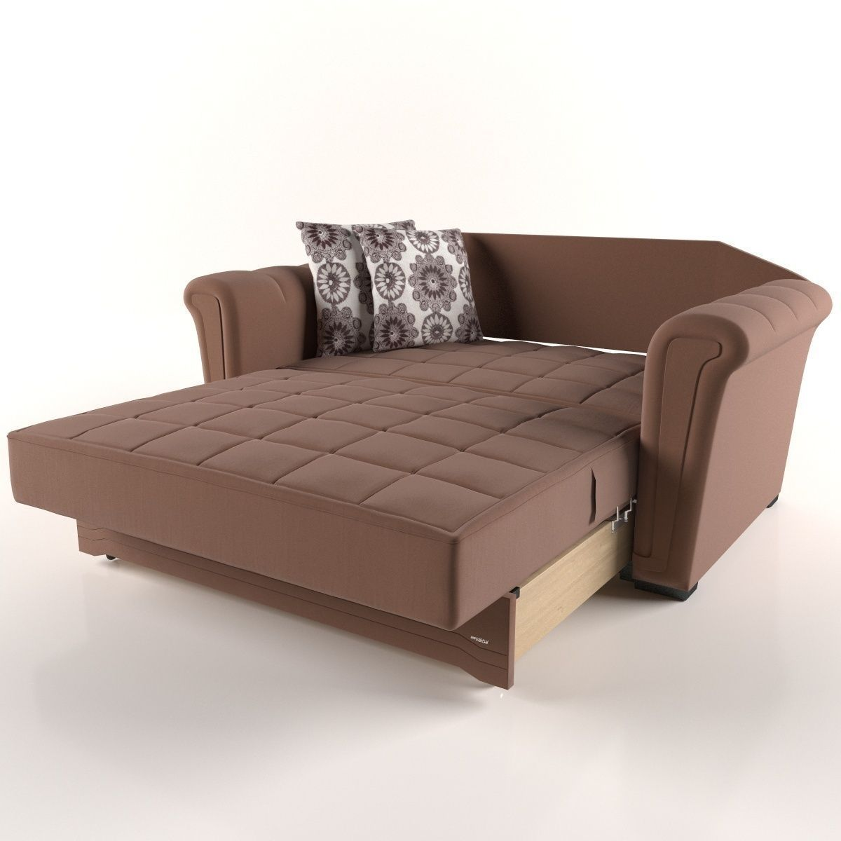 Victoria Sofa Bed Model Low Poly Animated Max Obj Mtl 1