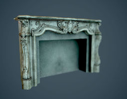 PBR 3d asset fireplaces  - low poly realtime