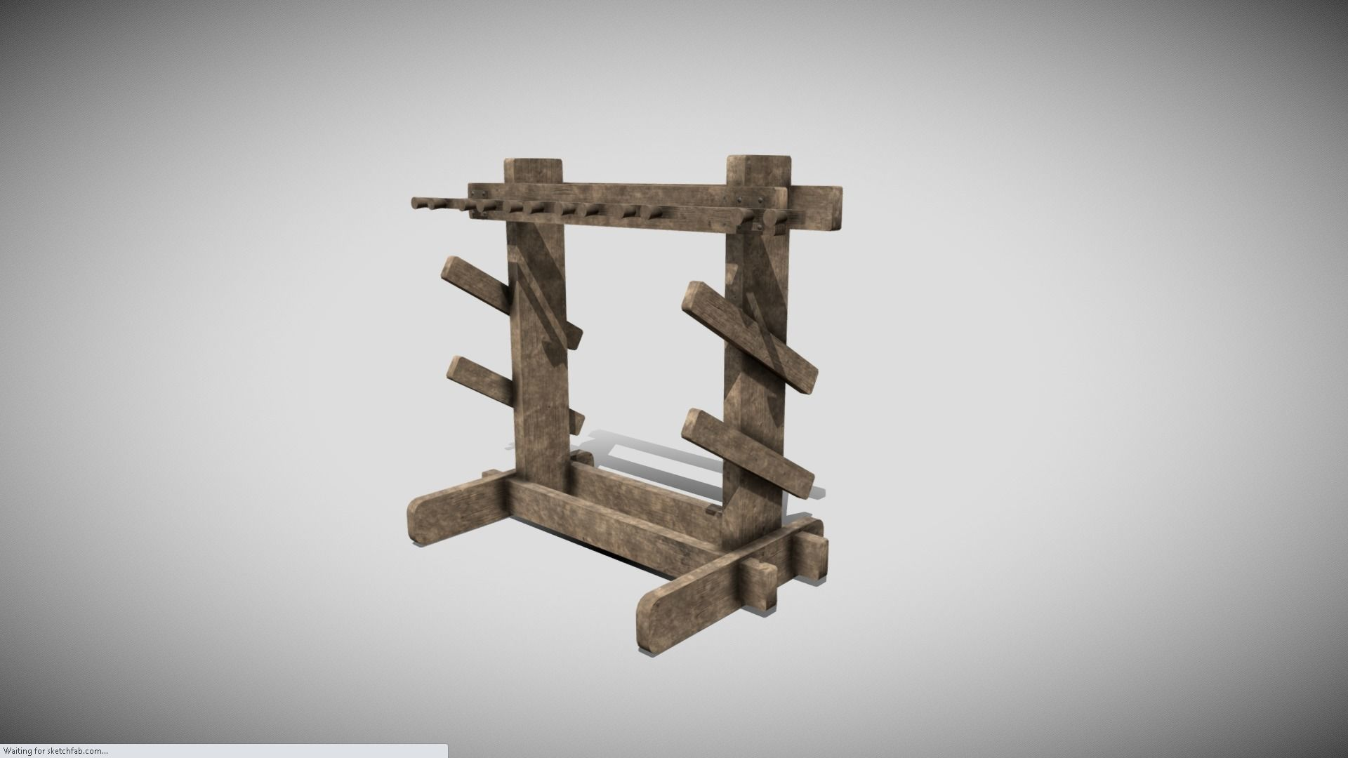 Medieval Weapons Rack