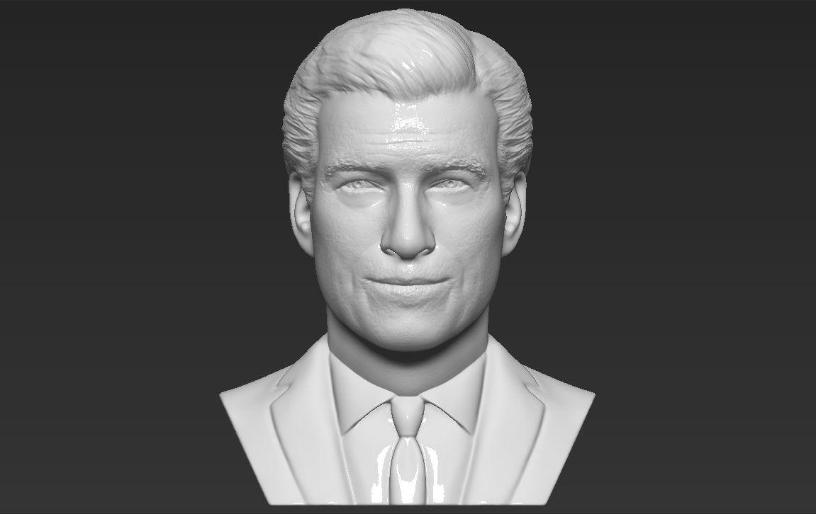 James Bond Pierce Brosnan bust 3D printing ready stl obj formats