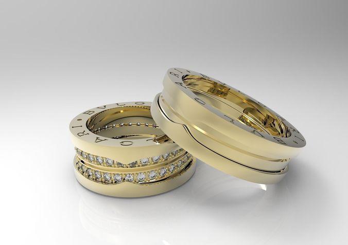 luxury helix spring rings 3d print model