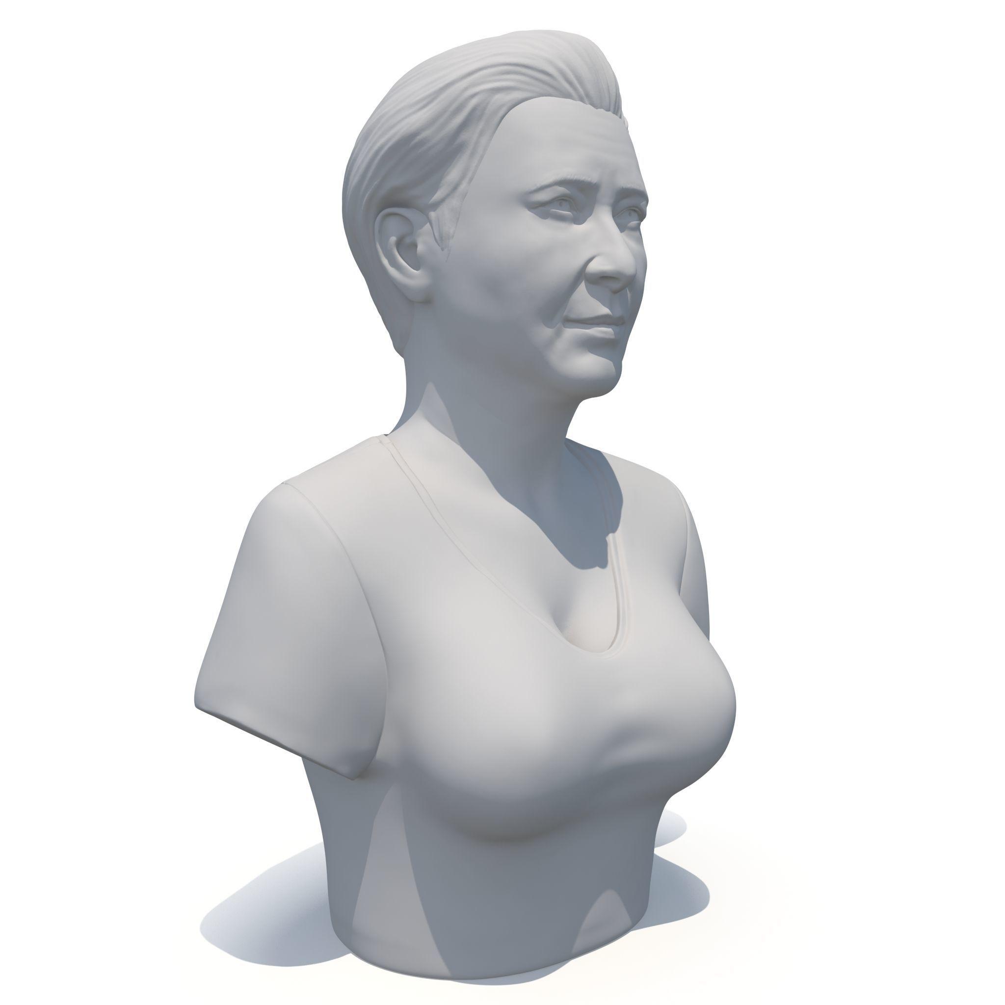 Female bust 01 - 3D print model