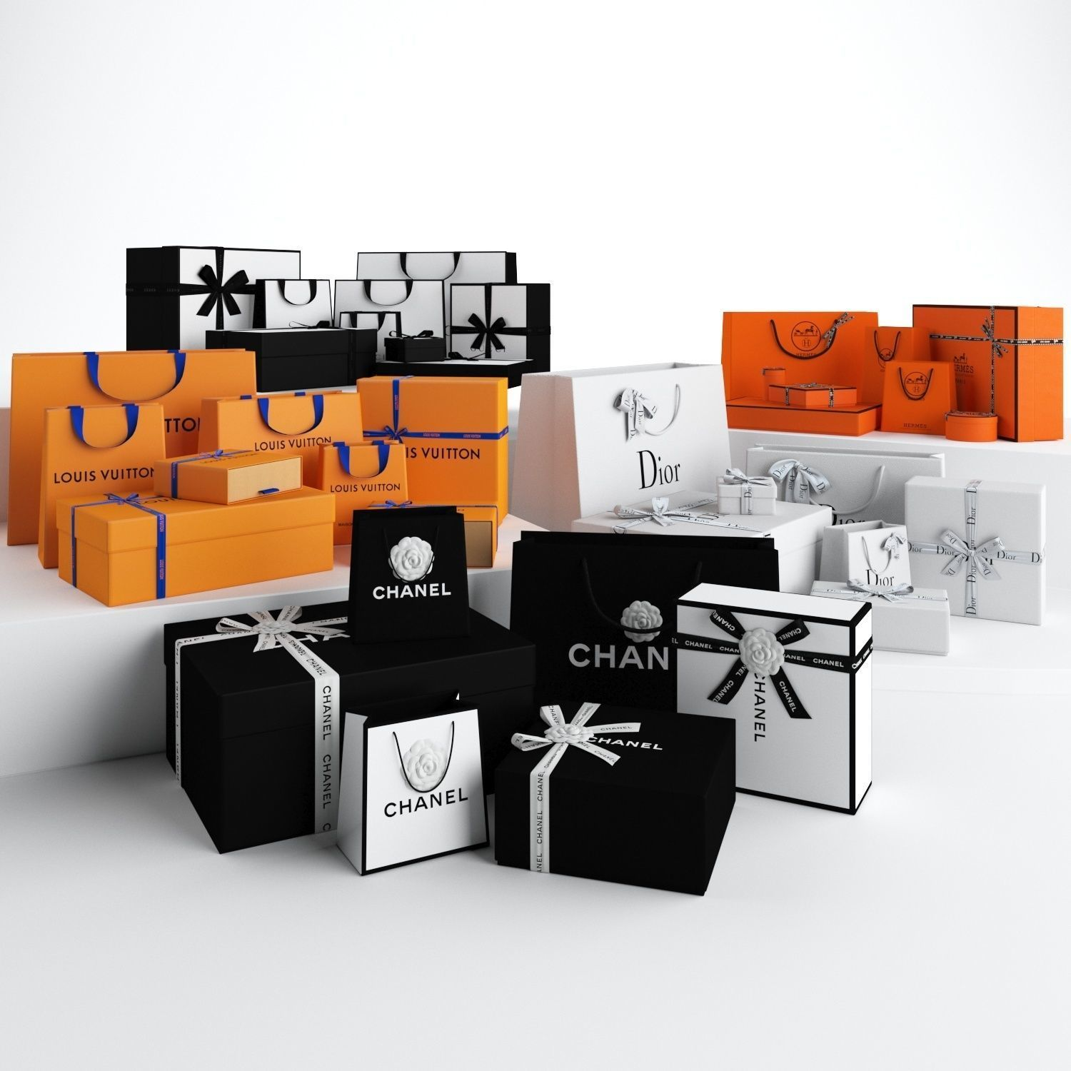 Luxury Gift Packaging Boxes and Paper Bags