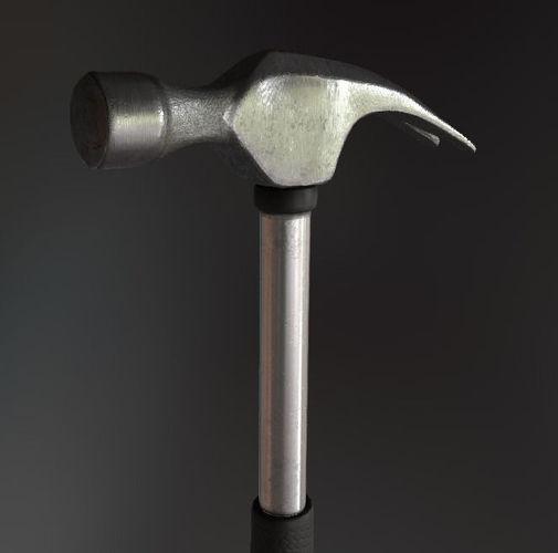 small hammer 3d model low-poly obj mtl 3ds fbx blend dae 1