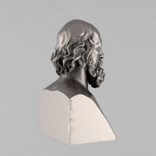 printable bust of tennyson - 2 3d model stl 2