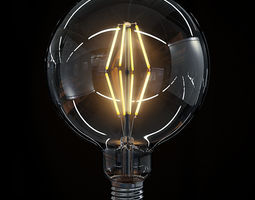 LED Filament Bulb 09 3D Model