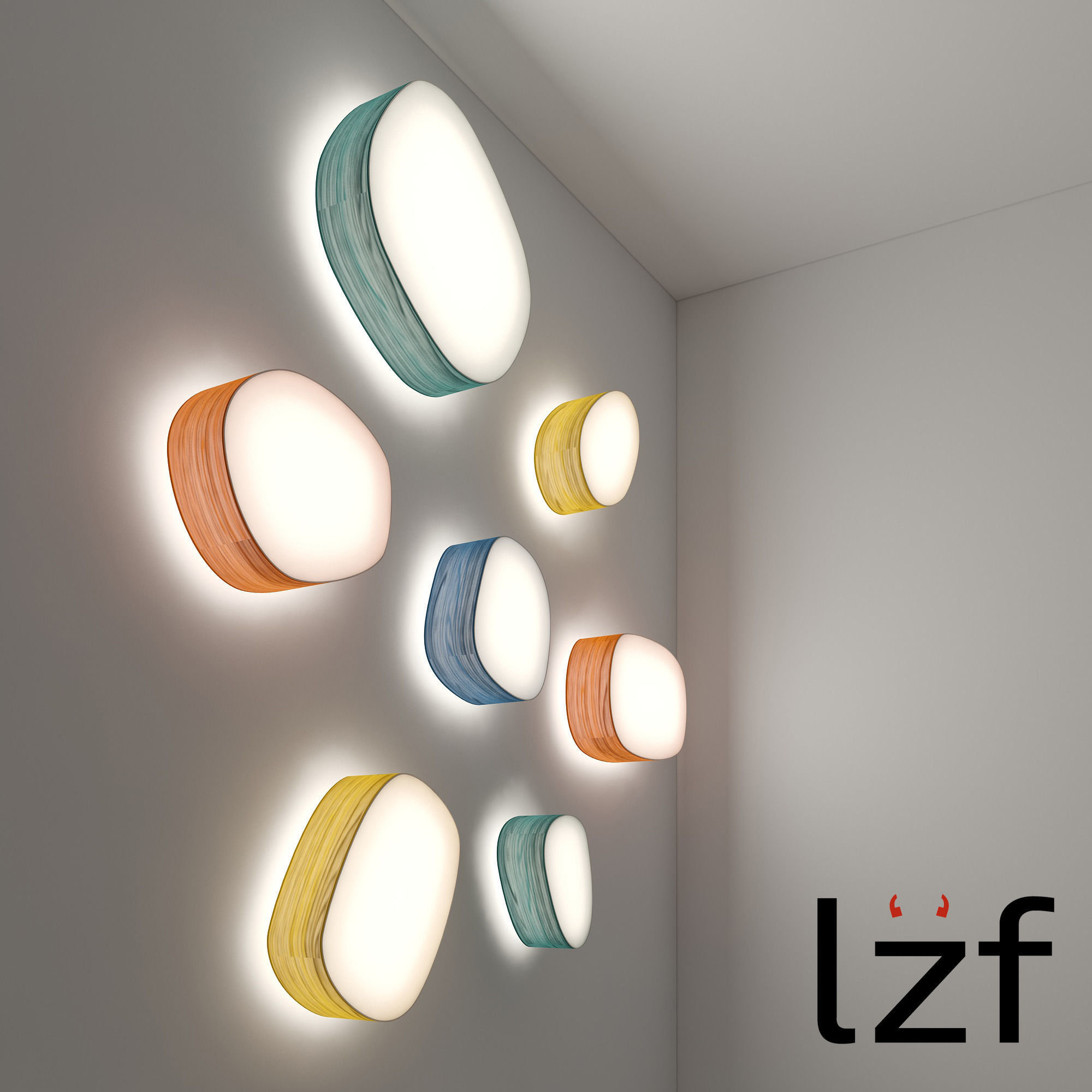 3d Model Lzf Ceiling And Wall Light Cgtrader