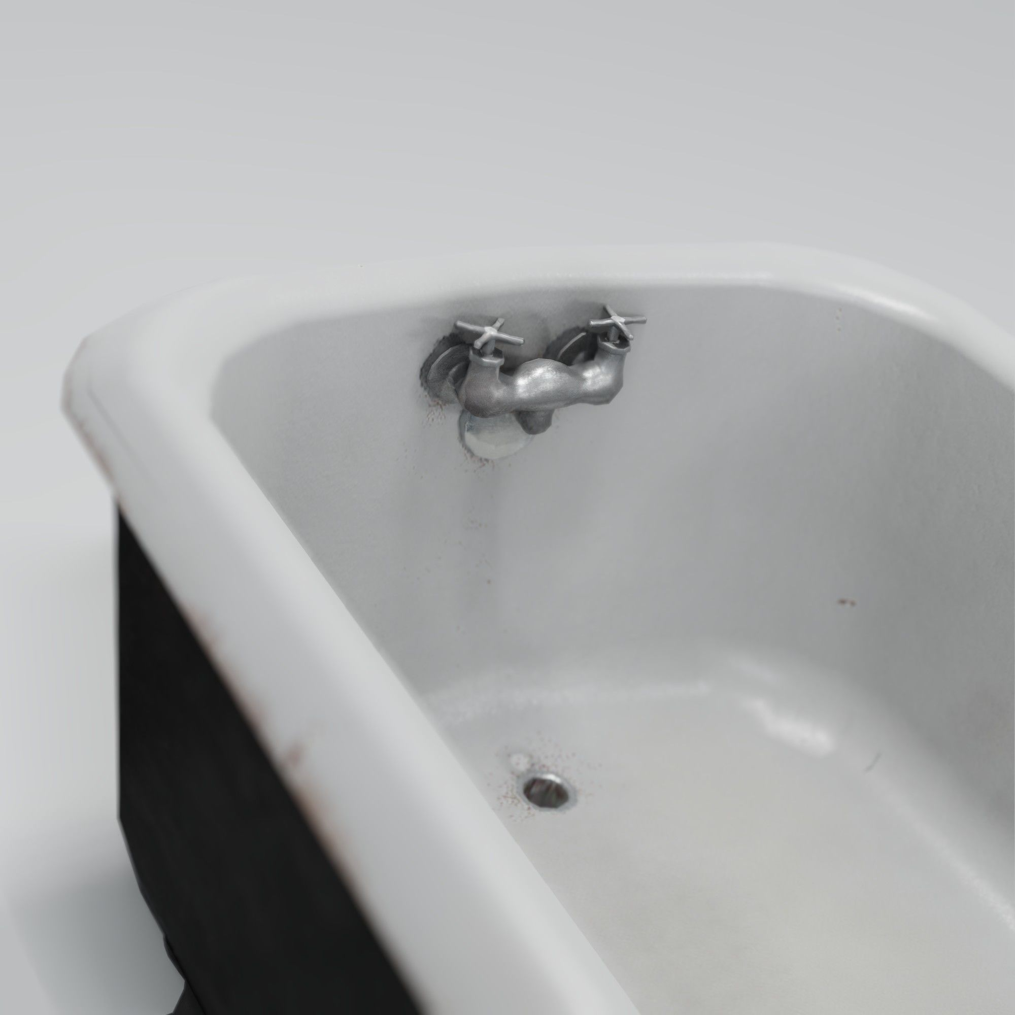 Picture of: 3d Model Old Cast Iron Bathtub Cgtrader