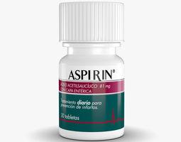 aspirin bottle 3d