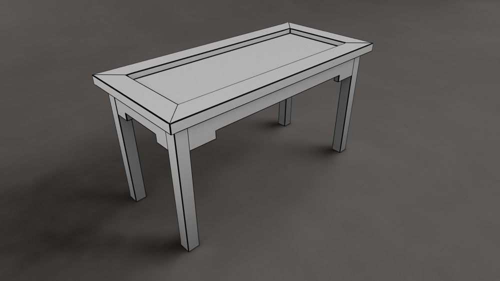 ... Ethnic Coffee Table 3d Model Max 6 ...