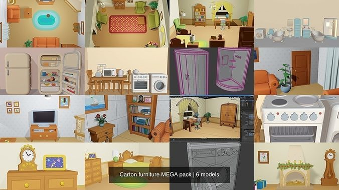 Carton furniture MEGA pack