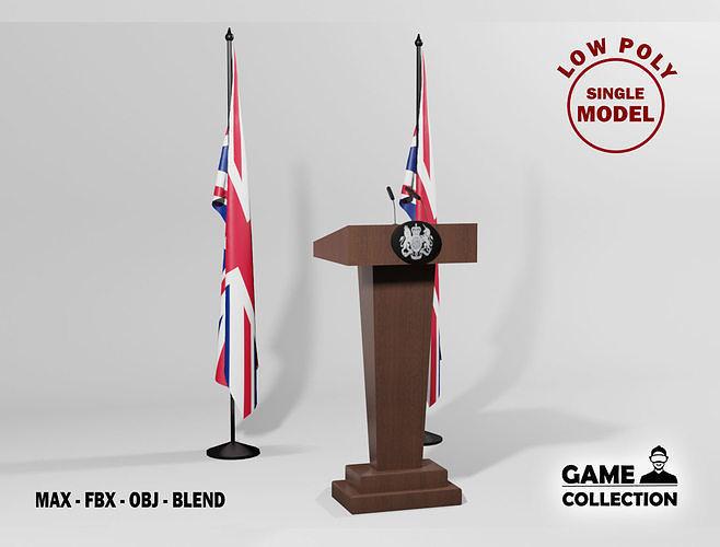 English Presidential podium