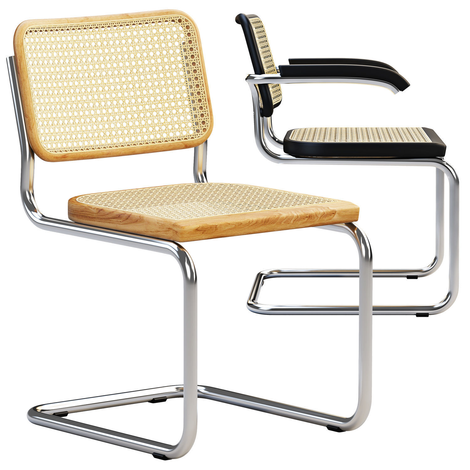Cesca Chairs B 32 by Marcel Breuer 2 options