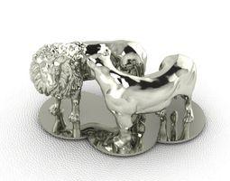 3d print model lion and lioness