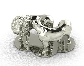 Lion and Lioness 3D print model