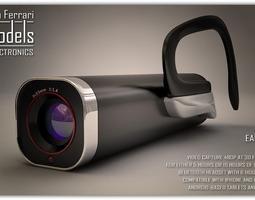 ear video camera 3d