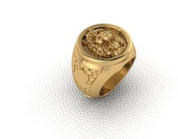 3d printable model ring lion 1