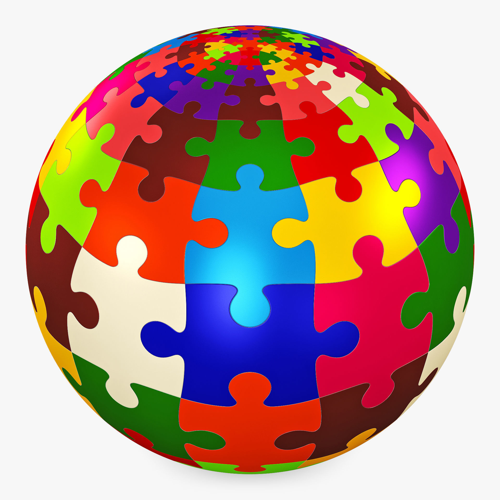 Colored Sphere Puzzle v 1
