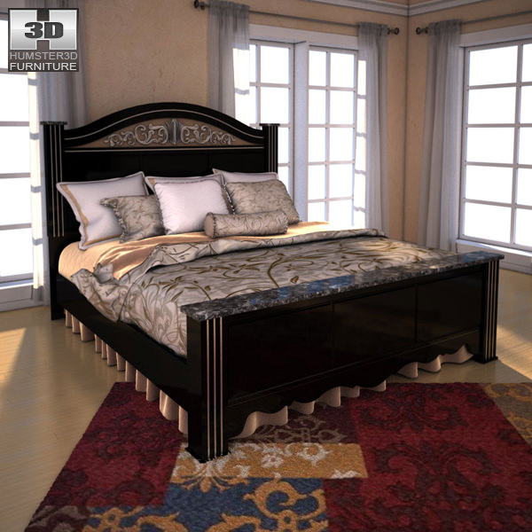 Ashley Constellations King Poster Bed 3d Model Max Obj 3ds Fbx C4d Lwo Lw  Lws 1 ...