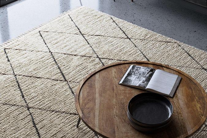 Realistic Wool Rug using Corona Hair and Fur