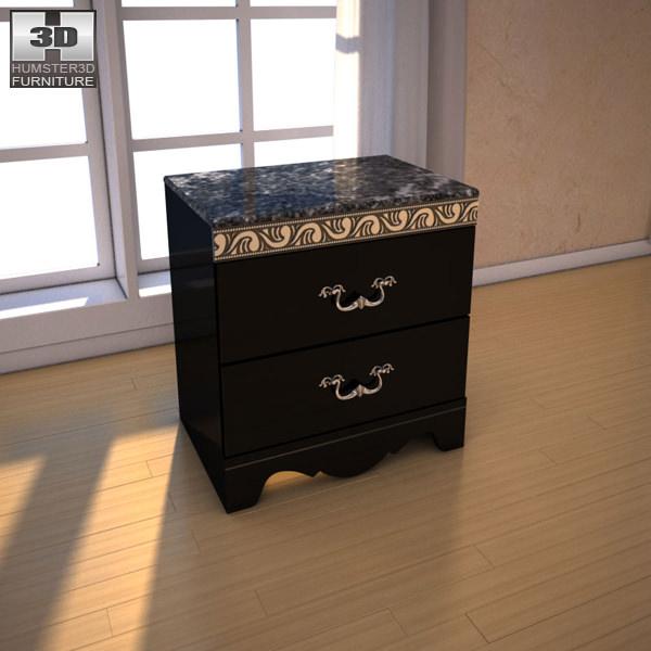 Ashley Constellations Nightstand 3d Model Max Obj 3ds Fbx C4d Lwo Lw Lws 1  ...