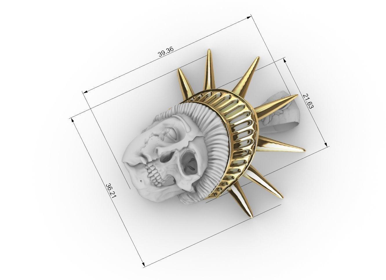 liberty statue skull pendant