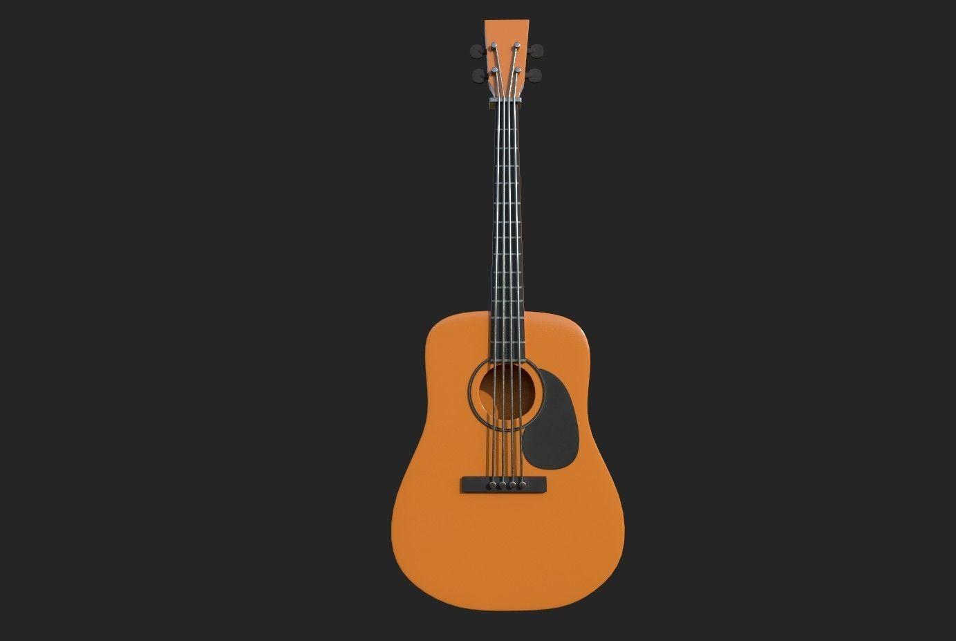 Guitar orange