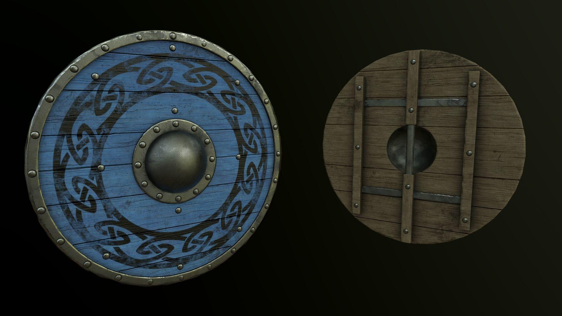Viking Shield Pack - Triple AAA game asset