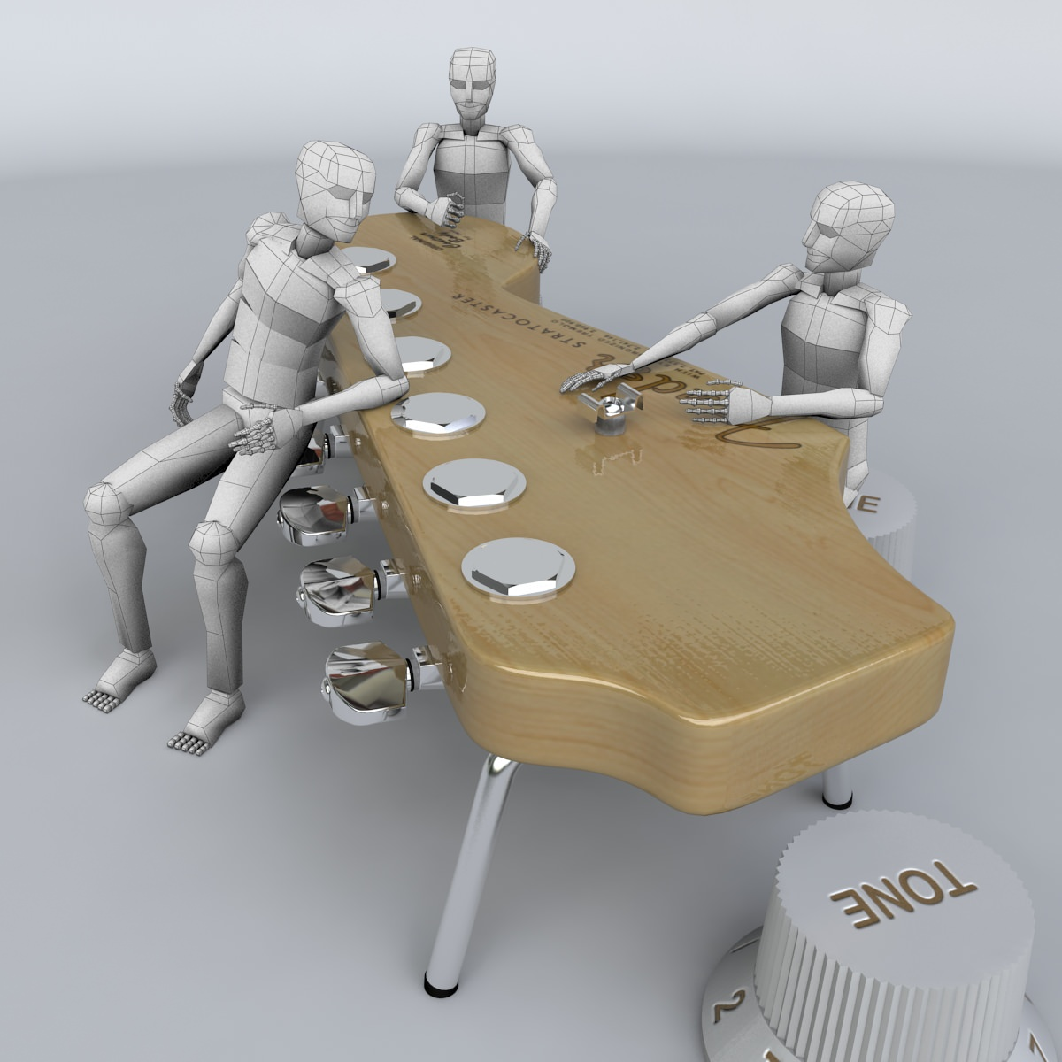 Strato shaped design table 3d model max obj 3ds fbx for Table design 3d model
