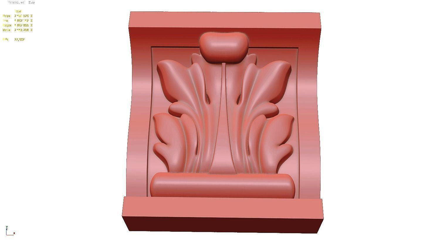 Carved bracket KR 011