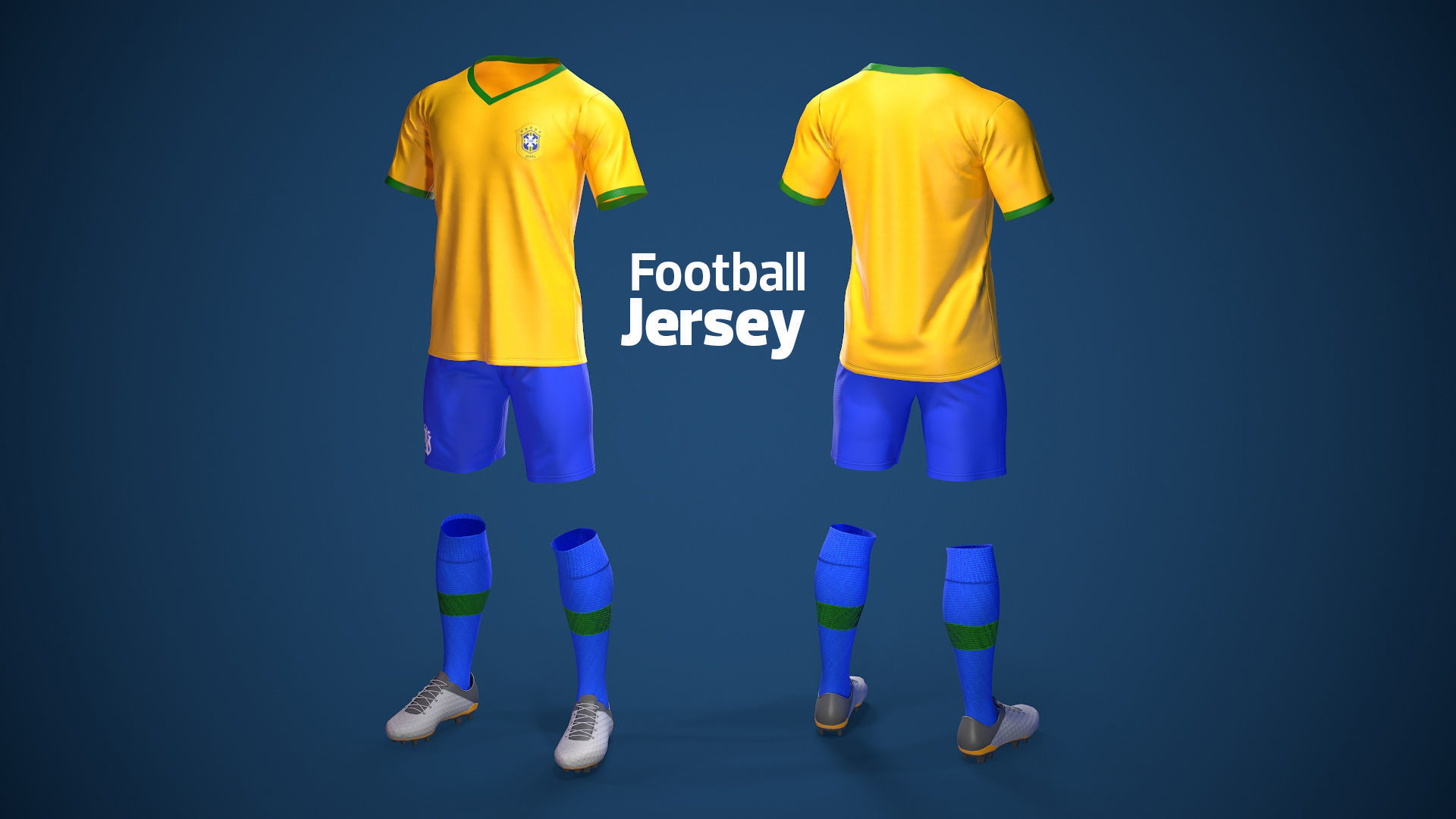 Football Jersey full outfit Brazil Team Sports