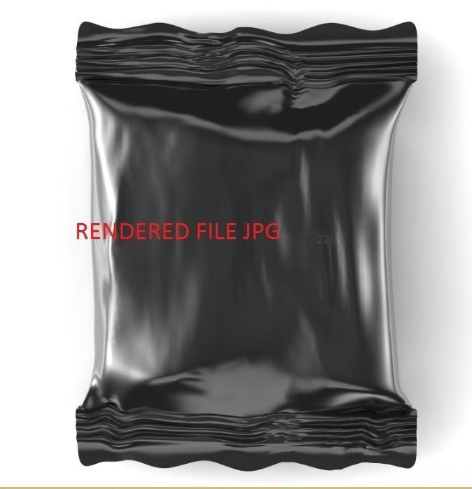 CHOCOLATE PACKAGING WET WIPES 3D MODEL