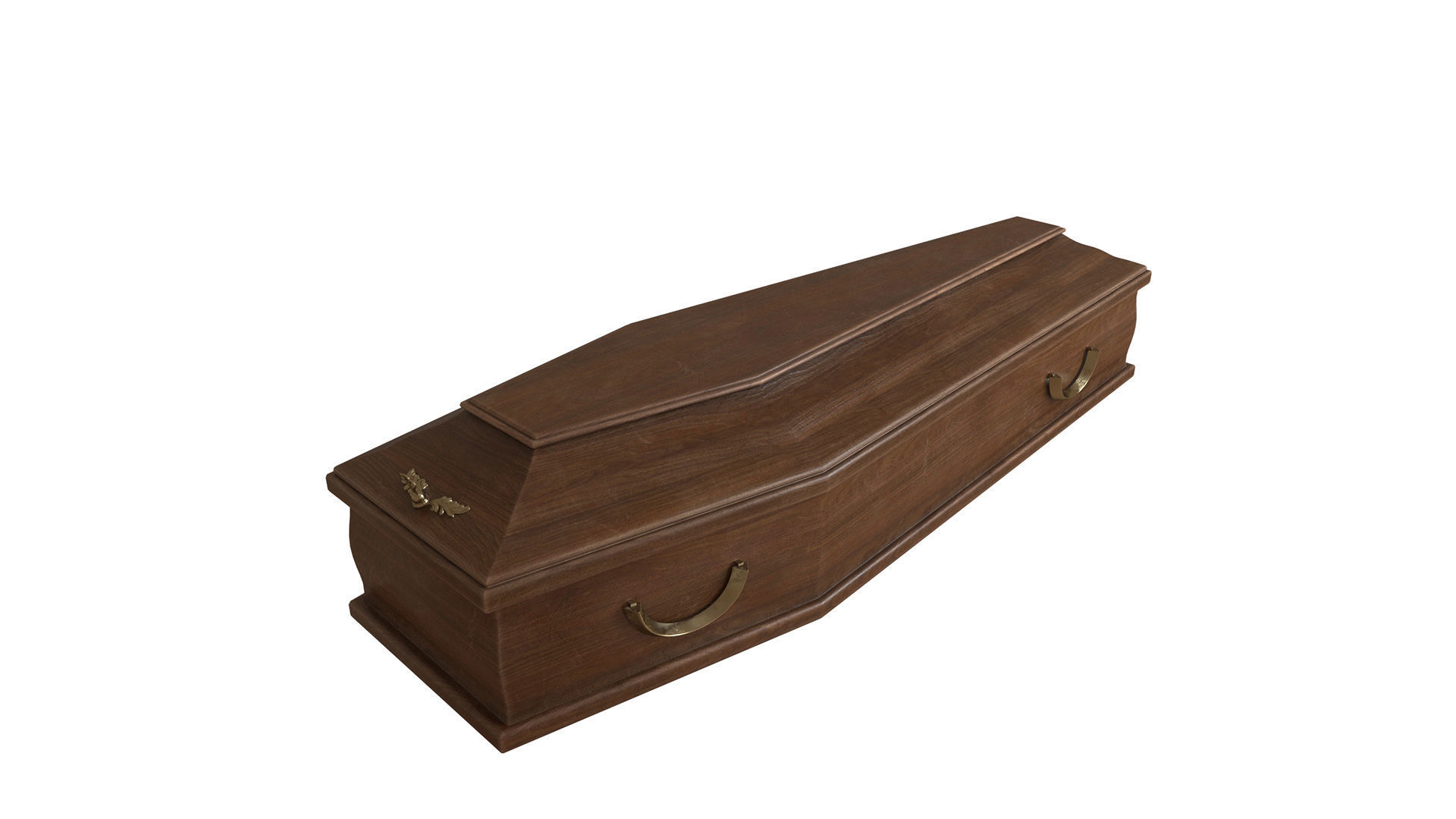 Classic wooden coffin