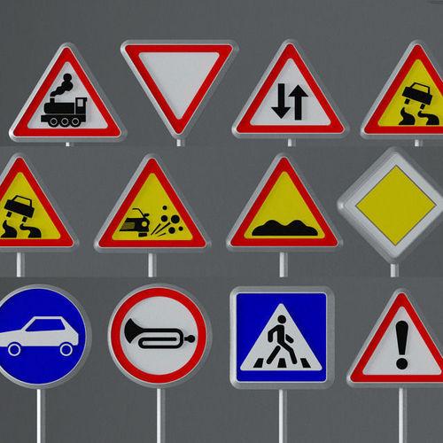road signs 3d model max obj mtl fbx 1