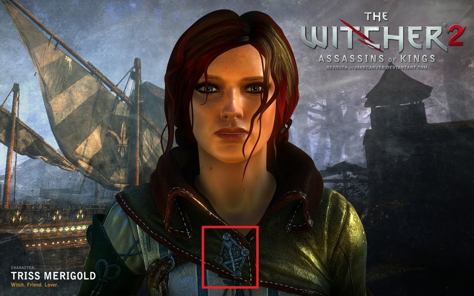 Triss Merigold Witcher 2 dagger and brooch