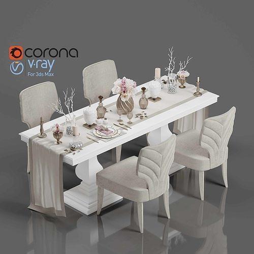 Tenarchstudio Dining Table-Decor Render Ready Vray - Corona