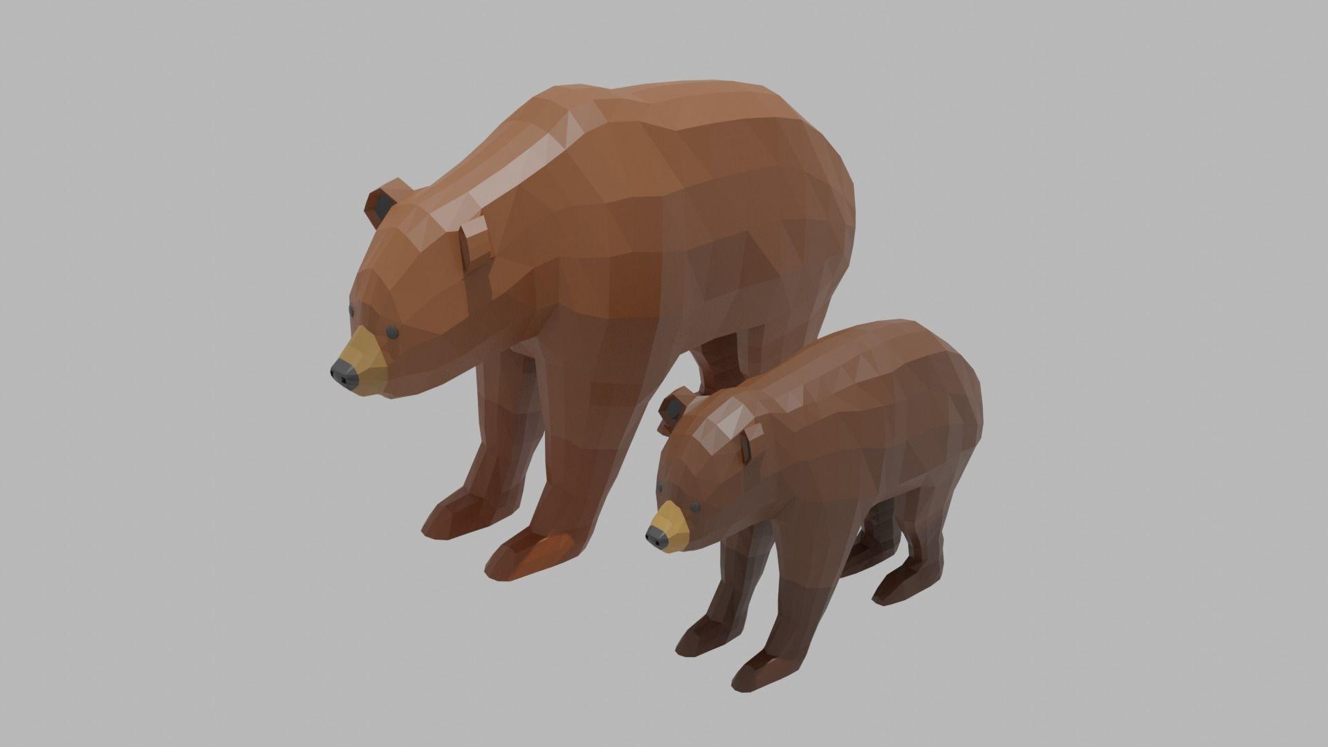 Cartoon Bear Family