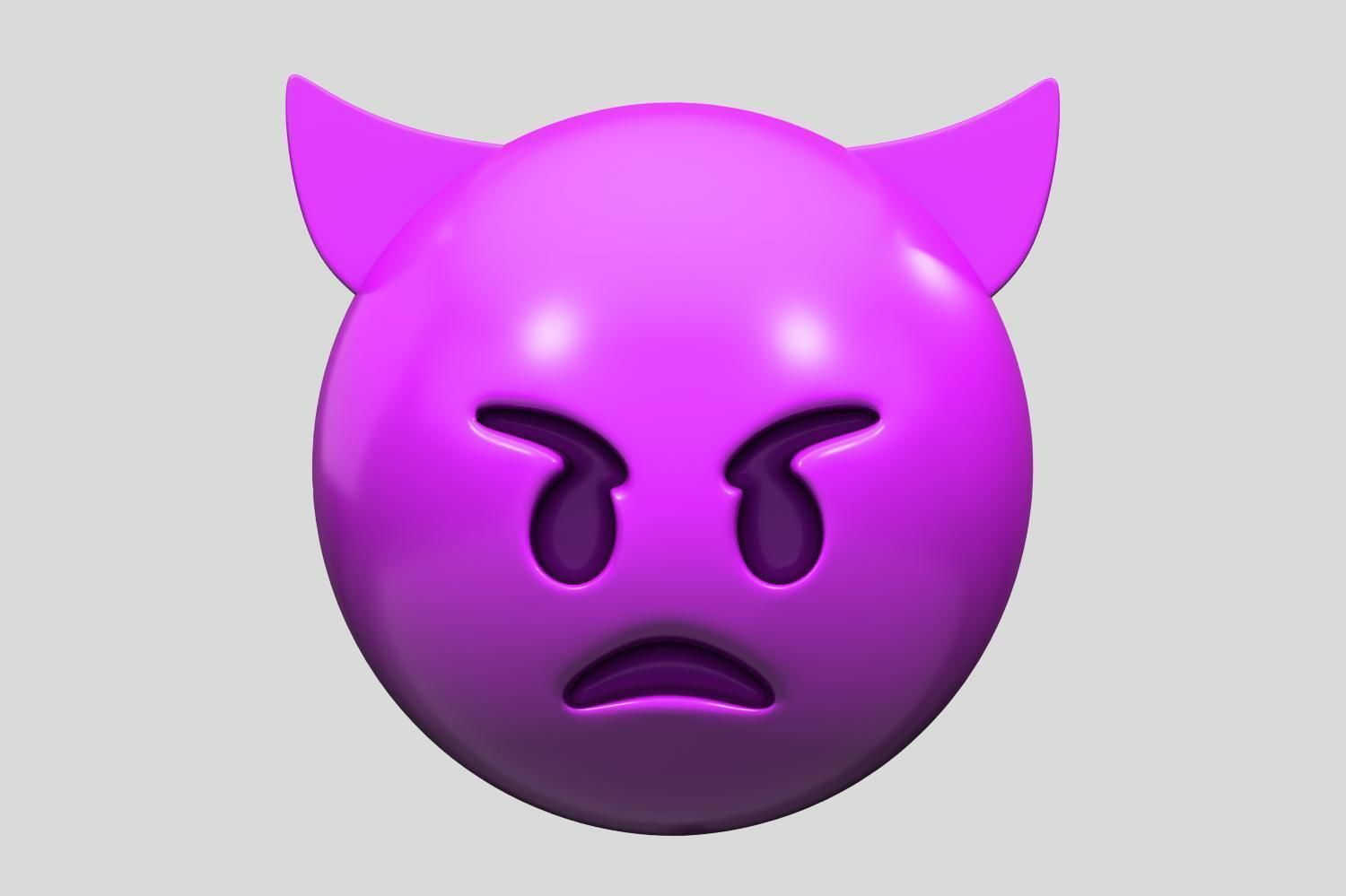 Emoji Angry Face with Horns