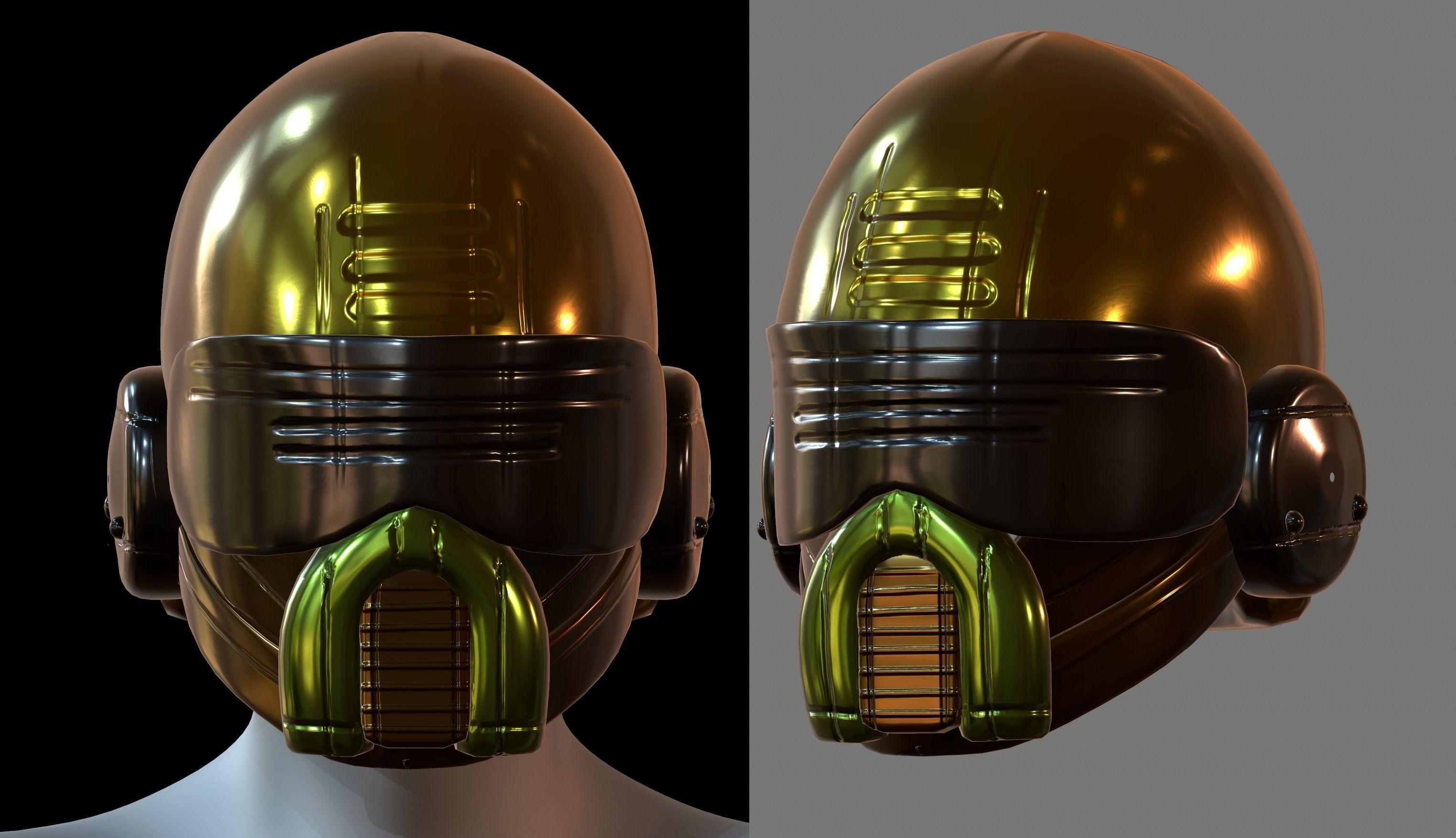 Helmet plastic mask protection 3D model