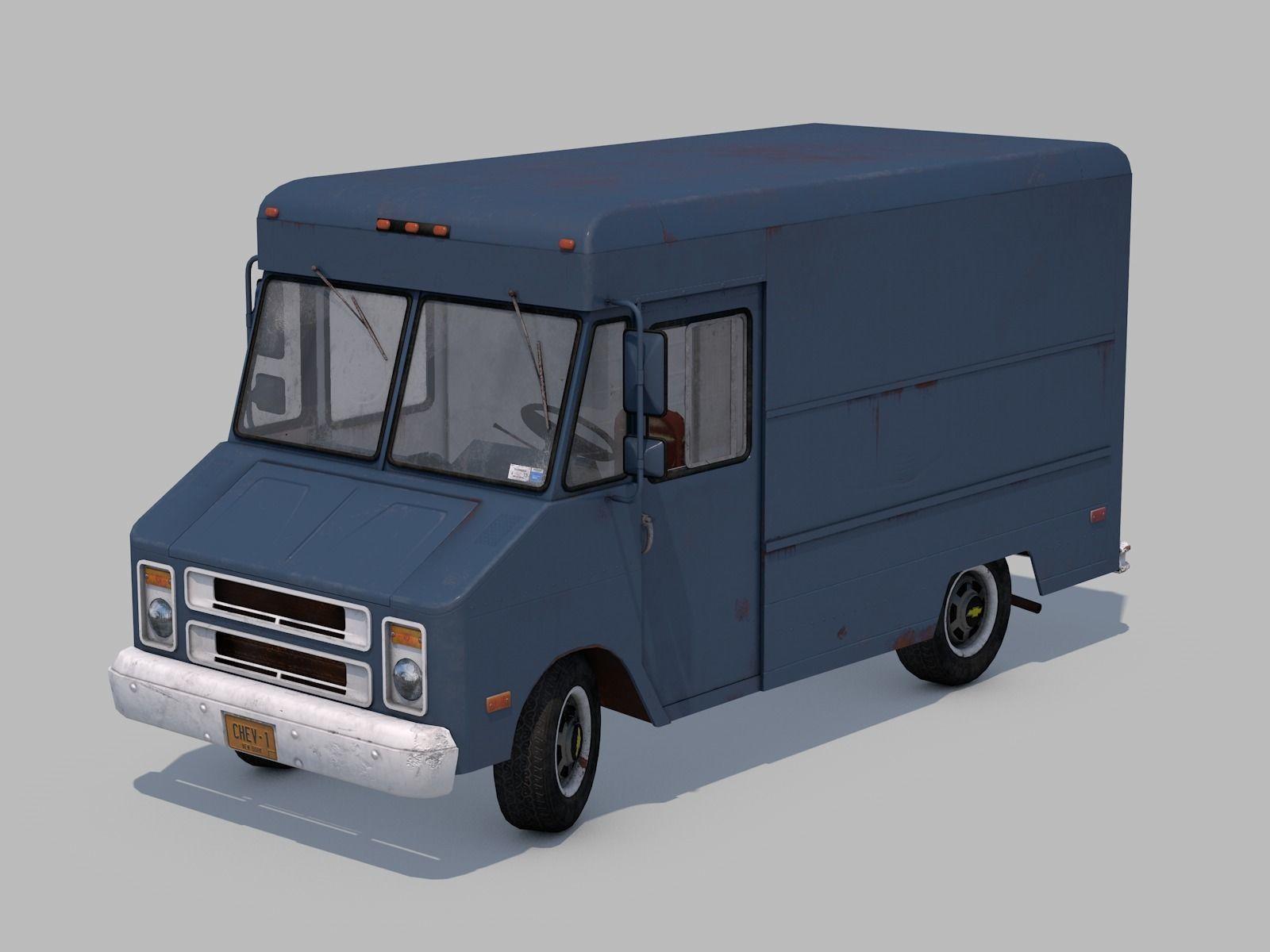 Classic  Van - C4D Rigg - PBR