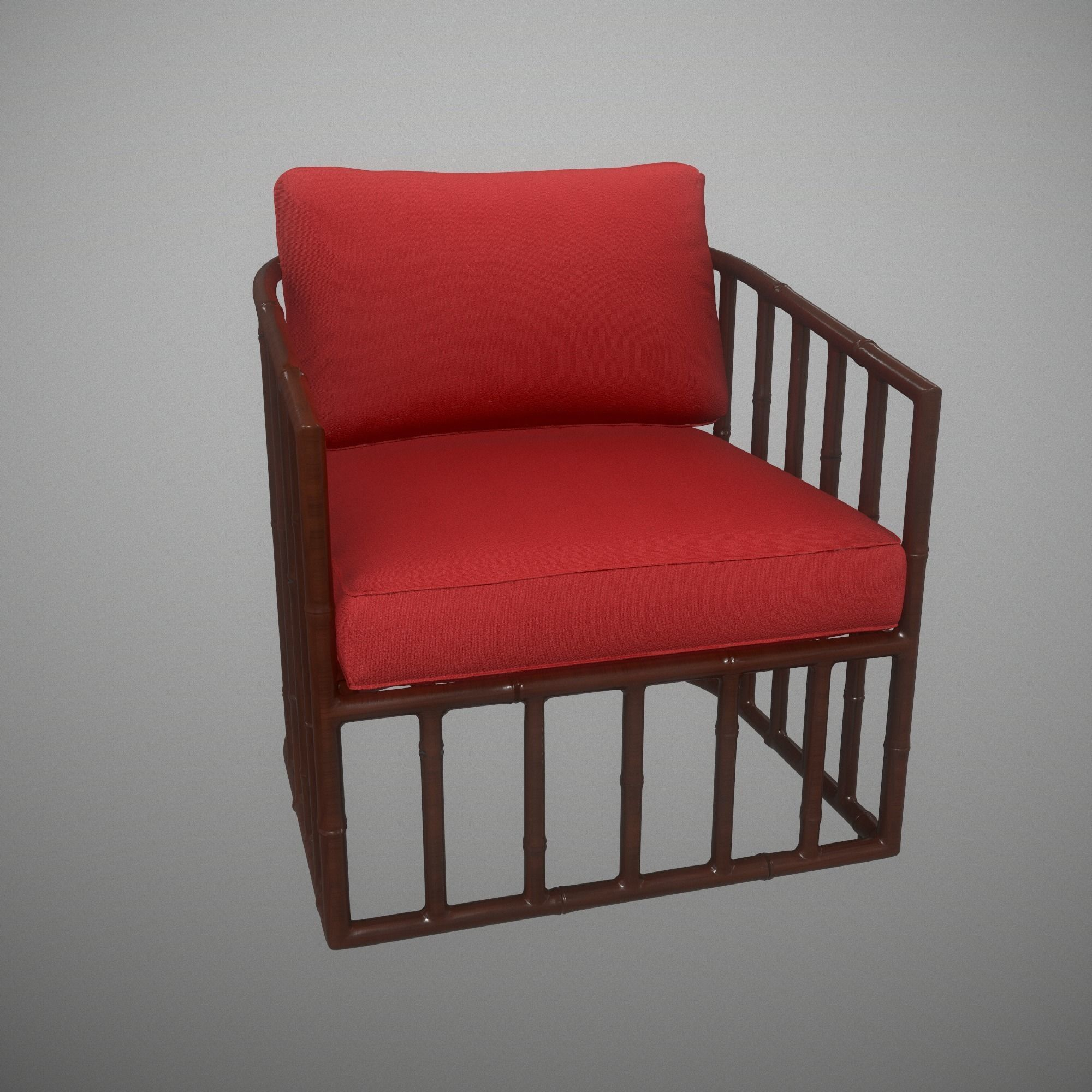 Robert Plum Bella Arm chair Devon Rosewood Fabric