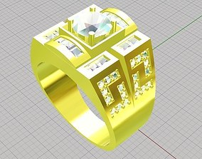 3D printable model Ring men diamond