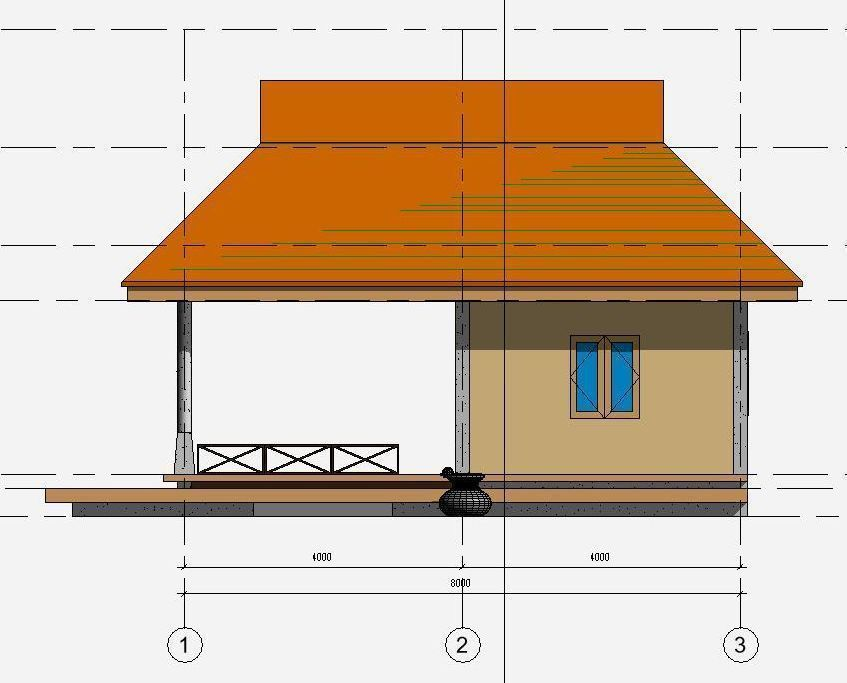 Small house in draft revit