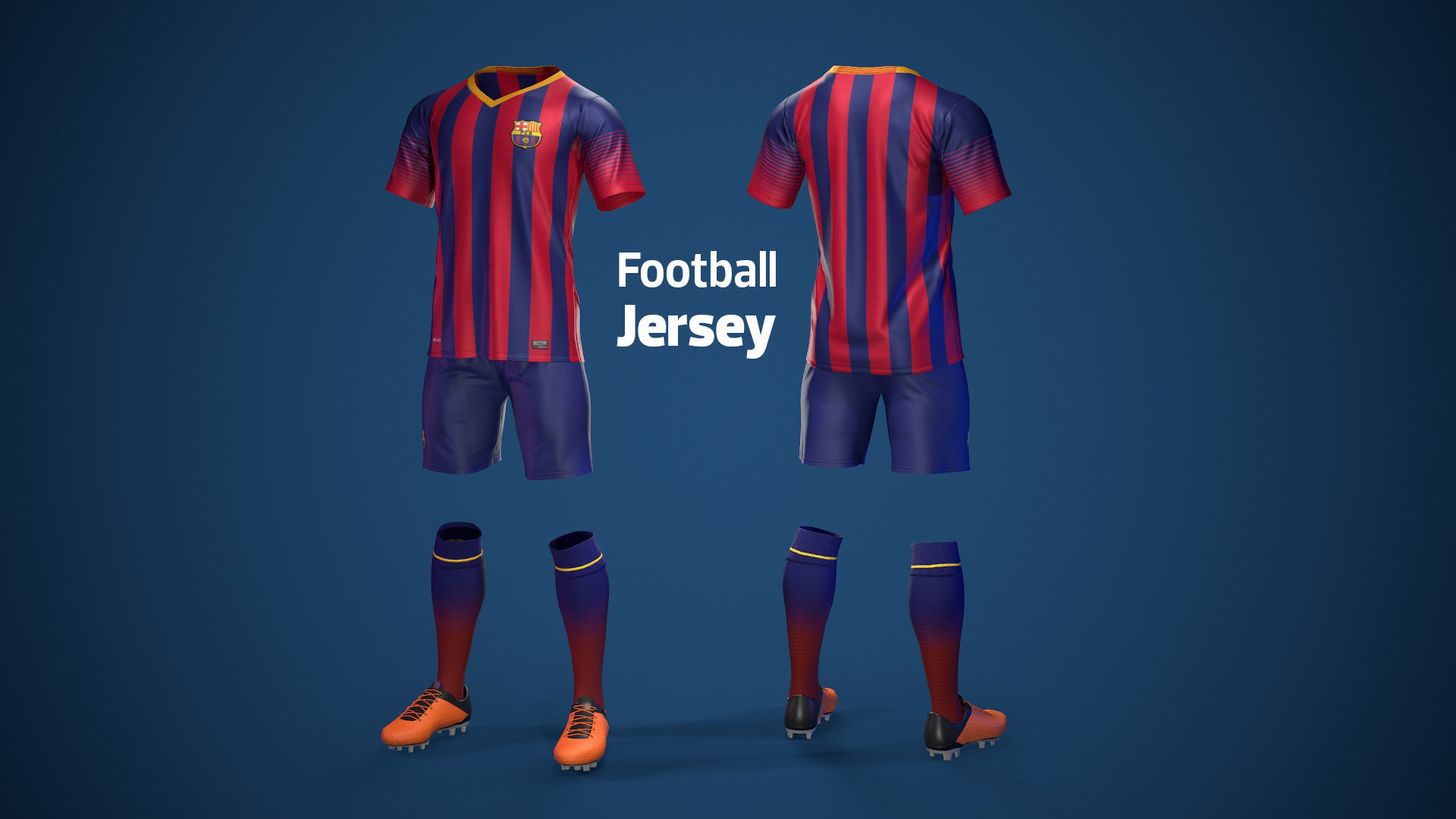 Football Jersey full outfit Barcelona Team