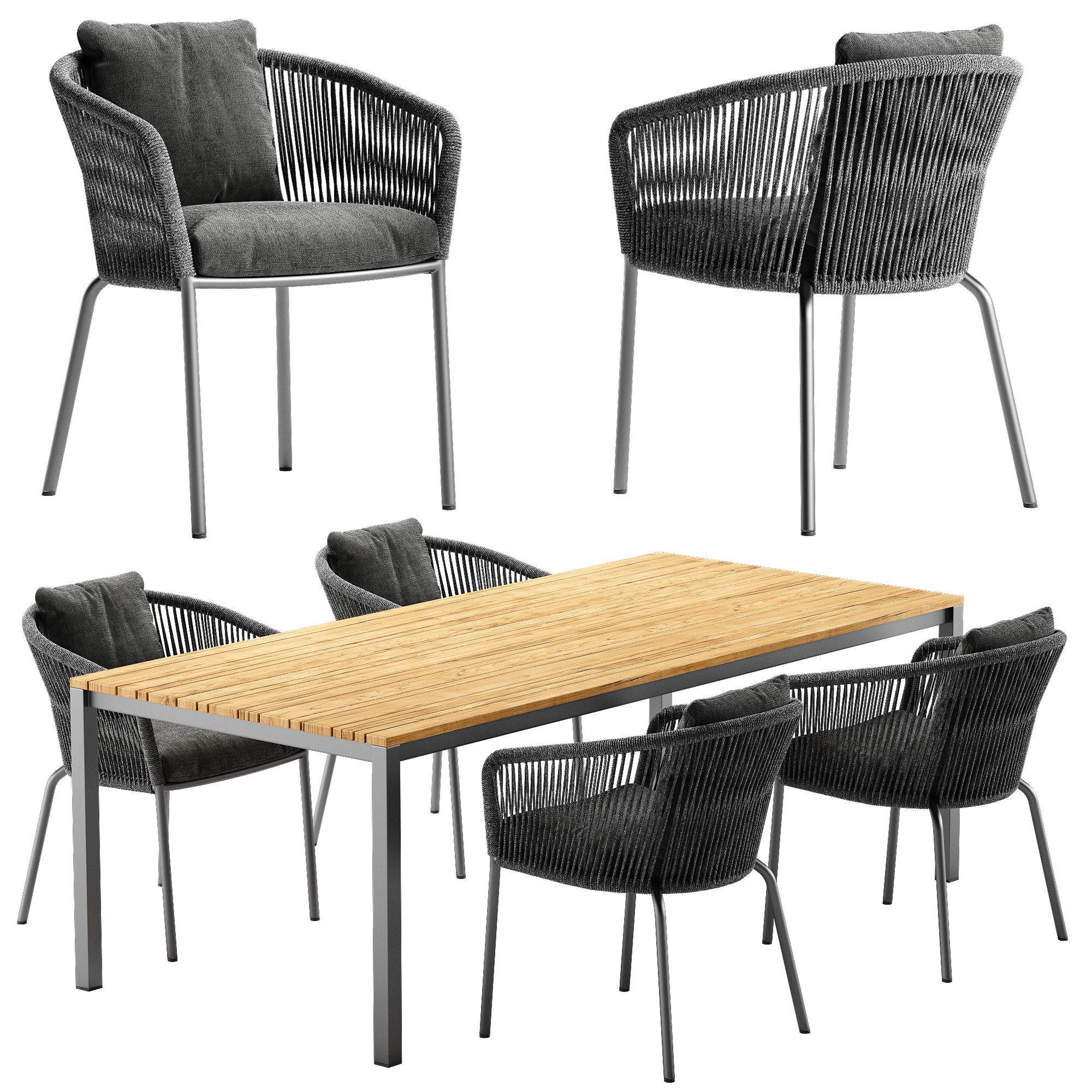 Solpuri Loop chair Classic Alu table set