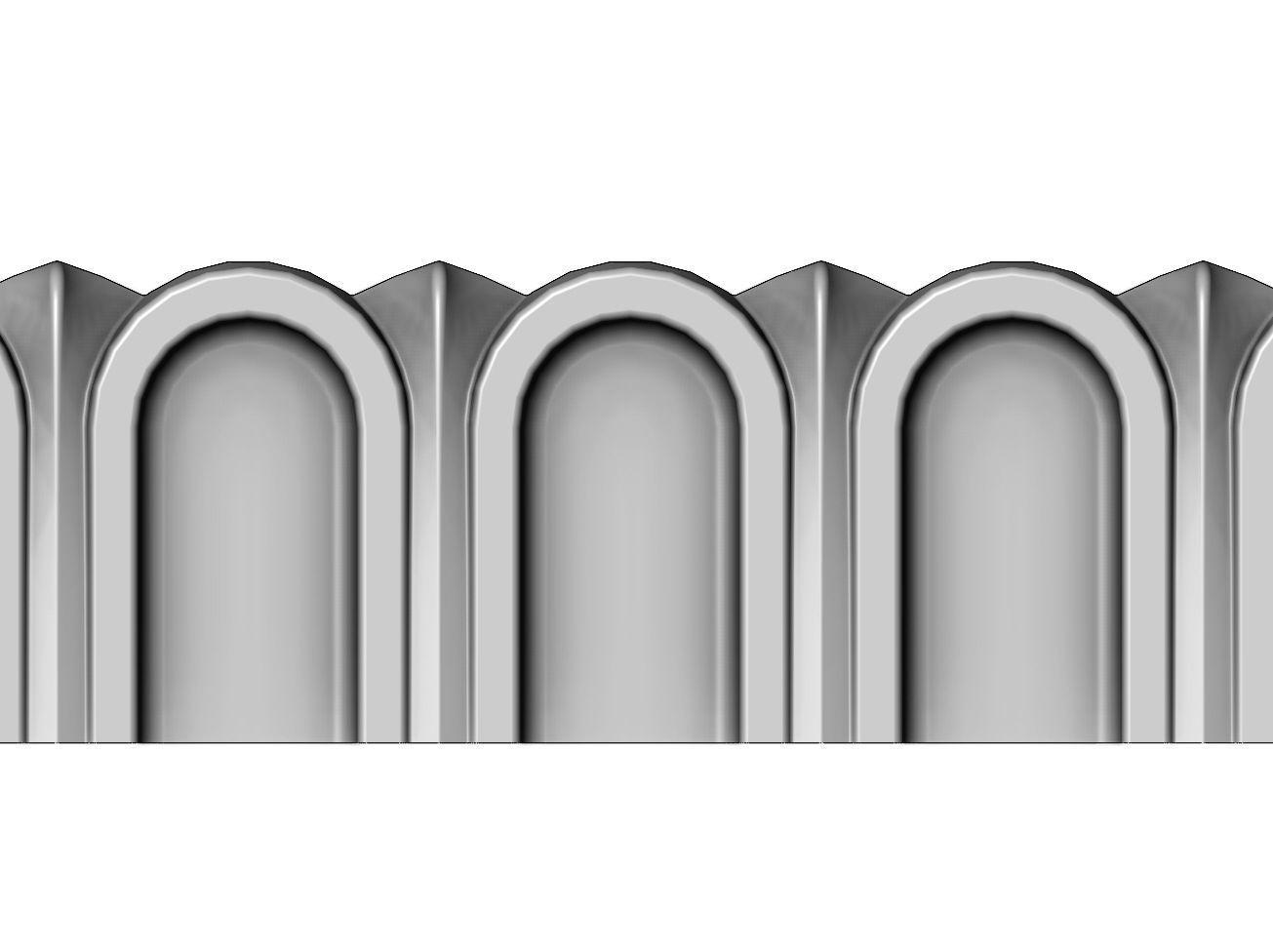 Roman Fluted linear molding