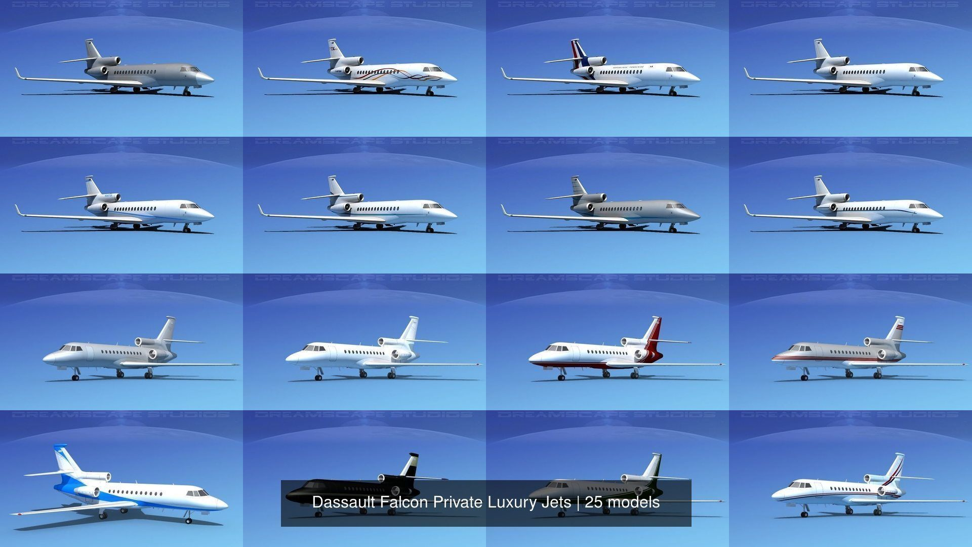 25 Dassault Falcon Private Luxury Jets