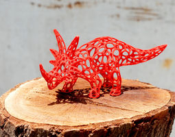 styracosaurus voronoi wireframe - 3dprintable